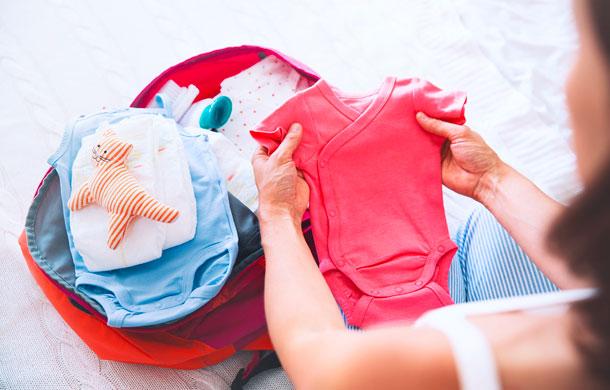 Organizing hospital bag